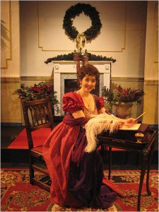 Karen Eterovich as Jane Austen in Innocent Diversions, A Christmas Entertainment with Jane Austen & Friends