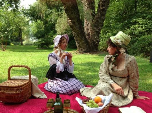 Jane & Anna Austen on a picnic!