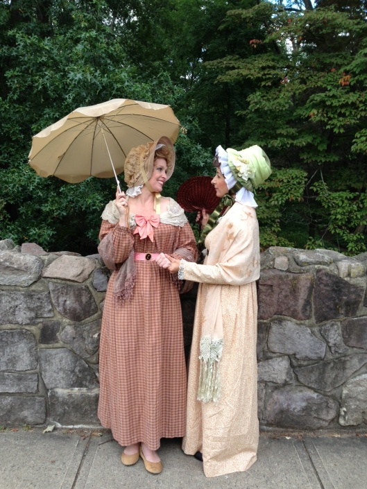 Cassandra & Jane Austen out for a stroll.