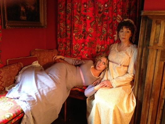 Sheila Joon as Anna Austen and Karen Eterovich as Jane Austen