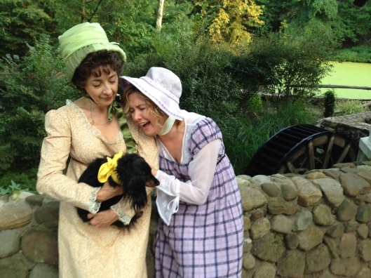 Karen Eterovich as Jane Austen and Sheila June as Anna Austen